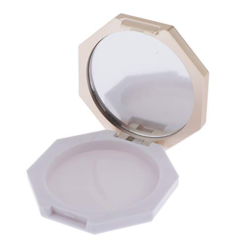 T TOOYFUL 2 In 1 Miroir de Poche, Bocaux Vide Lâche Poudre Cas Boîte Cosmétique Poudre Libre Portable pour Voyages