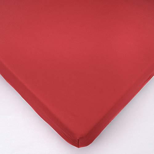 Drap-Housse en Jersey pour Lit Bébé 160x70cm - Rouge