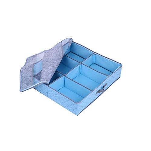 Mamp Opbergen, vlies, bamboekolen, bed, onder, ramen, transparant, verstelbaar, zacht vak met 6 vakken, schoenenbox, opbergdoos