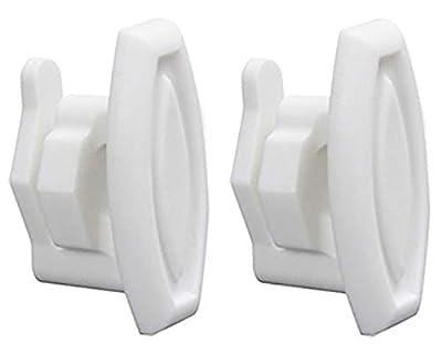 Repairwares Dishwasher Top Rack Slide End Cap Stop Clip WD12X10304 WD12X0344 1556527 AP4484666 WD12X344 WD12X10238 WD30X0097 WD30X97 (2 Pack)
