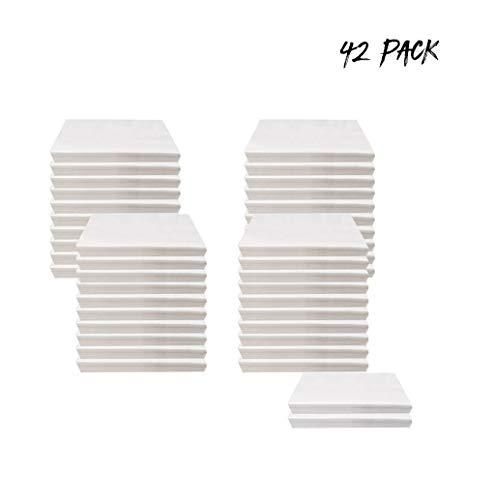 TWBB 15/30/42/50 Packung Taschentücher einlagig Papiertaschentücher, Taschentücher aus Papier, Zellstoff hochweiß Papierservietten weiches hautfreundliches Taschentücher Serviette