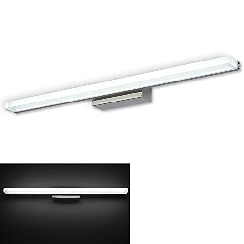 VanMe LED Lampada da Specchio 30W 2400LM, Specchio Armadio Lampada da Bagno, Luce per Trucco, Lunghezza 150cm Applique da Parete, Bianco Freddo 6000K, 220V [Classe di efficienza energetica A++]