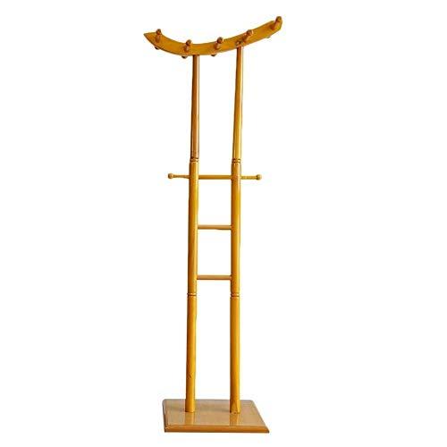Haushaltsprodukte Garderobe Home Floor Standing Hat Stand Kleiderbügel 12 Haken Schlafzimmer Korridor Wasserdicht 2 Farben Kleiderbügel Lagerung (Farbe: A Größe: 40,5 x 40,5 x 168 cm)