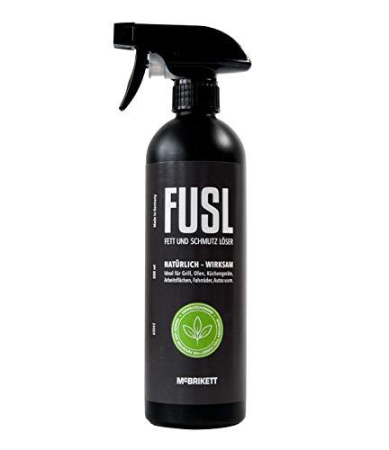 McBrikett FUSL Fett u. Schmutz Löser, Multi-Reiniger für Haushalt, Handwerk & Industrie, 500ml Sprayflasche