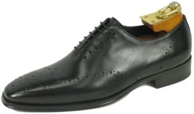 Carrucci by JC Studio Perforated Burnished Two Tone Calfskin Lace up Oxford KS261-01