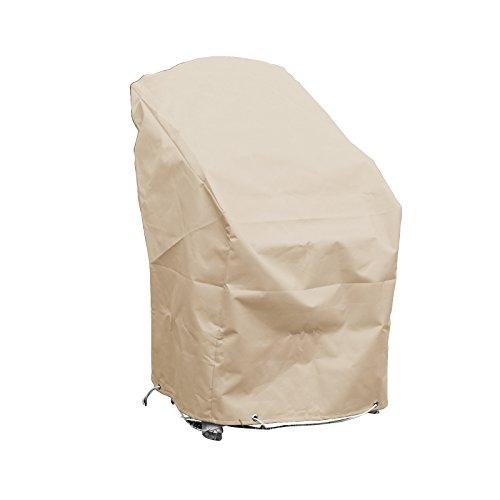 GREEN CLUB Housse de Protection pour chaises de Jardin empilables Haute qualité Polyester L 70 x l 65 x h 70 Couleur Beige