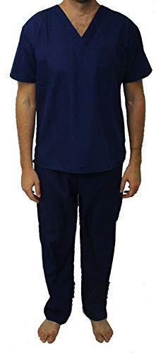 33300M-Navy-M Tropi Unisex Scrub Sets / Medical Scrubs / Nursing Scrubs,Navy,Medium