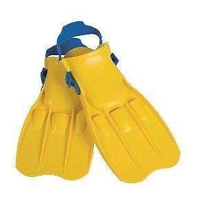 Schwimmflossen klein 4 - 8 Jahre Kinderschwimmflossen Kinderflossen Flossen in blau oder gelb (gelb)