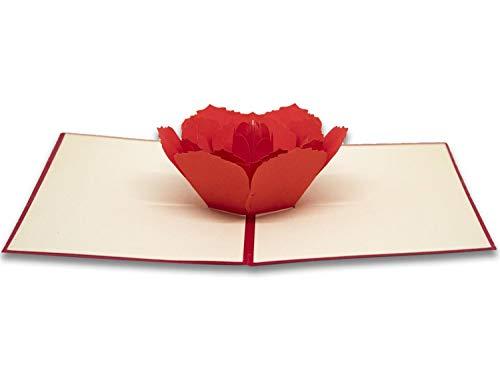 Tarjeta de felicitación Origami, la rosa
