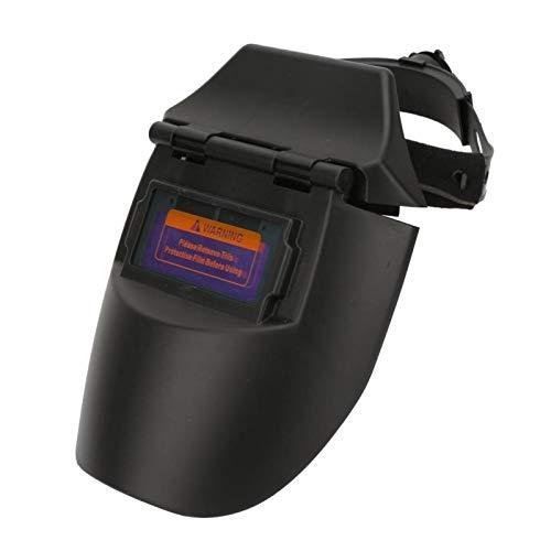 Máscara de soldadura SALUTUYA, máscara de soldadura fotoeléctrica con oscurecimiento automático solar, medio casco, protector facial para soldador (naranja/negro)(Negro)