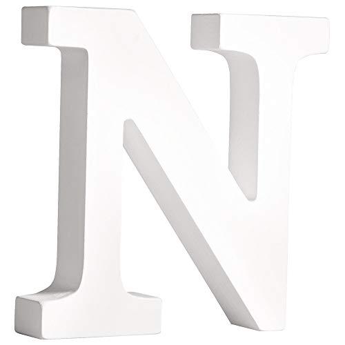 Rayher 62665000 MDF- Buchstabe N , weiß, 11cm, Stärke 2cm