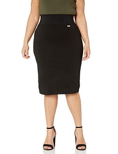 Calvin Klein Women's Skirt (Regular and Plus Sizes), Black, 2X