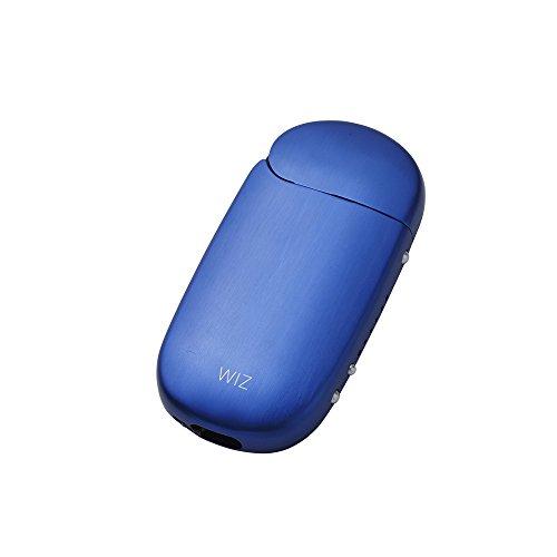 iQOS アイコス 用 アルミ ケース 2.4 Plus / 2.4 両対応 ストラップホルダー付き 工具不要 ネオジウム磁石で簡単装着 WIZ (ブルー)