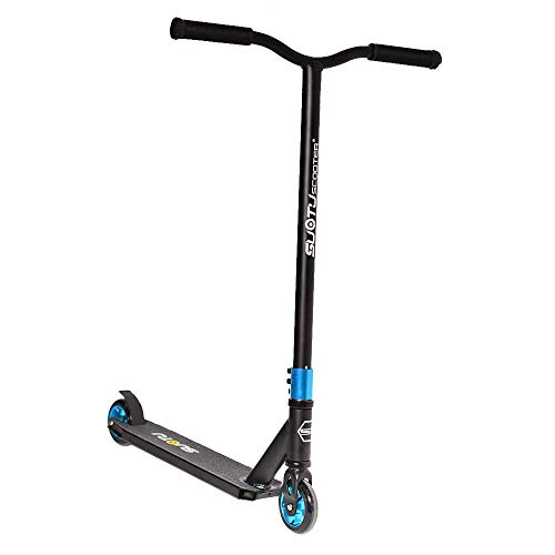 Patinete Suotu R10 Stunt Scooter, Freestyle, hasta 100 kg, ruedas de 110 mm con núcleo de aluminio (azul)
