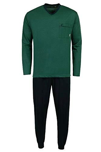 hajo Pyjama lang 5XL/62 Marine-Grün (632)