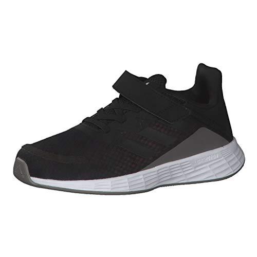 adidas Unisex-Kinder Duramo SL C Sneaker, Negbás/Negbás/Grisei, 33.5 EU