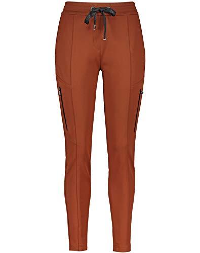 Gerry Weber Damen Jogpants mit Teilungsnähten figurumspielend Zimt 48