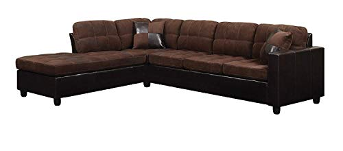 Coaster Home Furnishings Mallory Reversible Sectional Chocolate