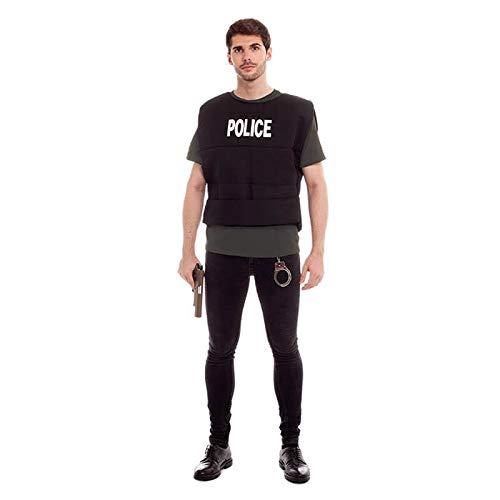 Chaleco de Policía Hombre Mujer Unisex 【Tallas Adulto S a L】[Talla S] Disfraz Hombre Carnaval Antiditurbios Policía Investigación CSI Profesiones Teatro Actuaciones Regalo