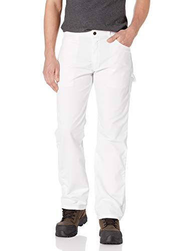 Dickies Men's Relaxed Straight Flex Painter's Pant, White, 32W x 32L