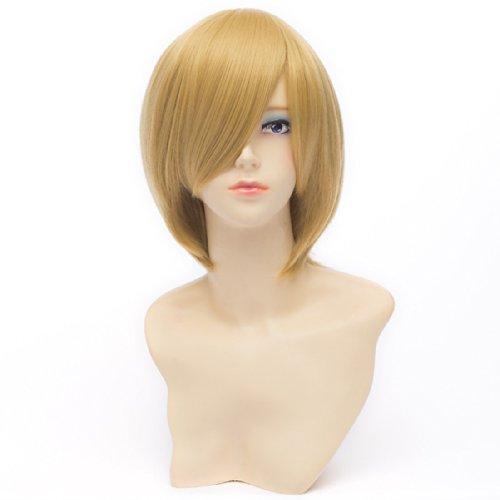 QIYUN.Z Kida Masaomi Durarara Bob Blonde Costume Unisexe Cosplay Anime La Chaleur De Cheveux De Fibre Synthetique Droite Perruque Resistant Courte Pour Les Femmes