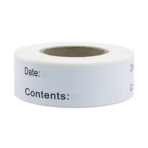Baipin Mat prep etiketter livetiketter för mat rotation användning genom matberedning Prep datum klistermärken, 125 stycken