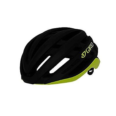 Giro Agilis MIPS Mens Road Cycling Helmet - Medium (55-59 cm), Matte Black/Citron (2020)
