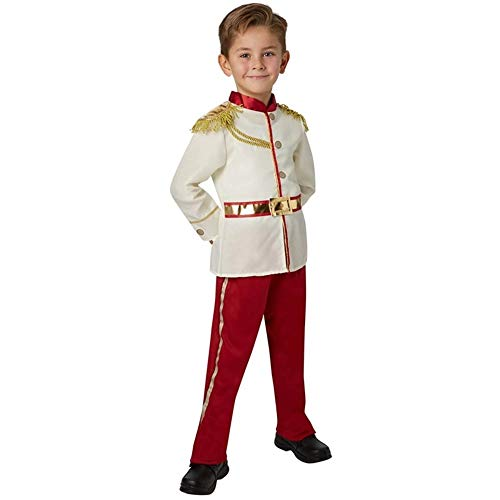 YuDanae Charming Prince Medieval Royal Prince Outfit Costume for Kids Boys Girls Aged 2-13,M(4-6T)