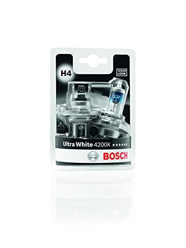 Bosch Lampadine Faro Ultra White, H4 12V 60/55W P43t, (Lampadina x2)