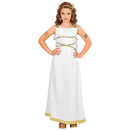 Widmann - Kinderkostüm Griechische Göttin, Kleid, Lorbeerkranz, Karneval, Mottoparty