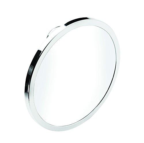 Croydex, Stick  N  Lock, porta rotolo di carta igienica, in acciaio dolce antiruggine, cromato, fissaggio con bi-adesivo o vite, colore: argento moderno Silver