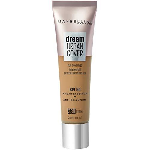 Maybelline New York - Perfecteur de Teint - Protection Anti-UV & Anti-Pollution - Dream Urban Cover - Teinte : Caramel Doré (330) - 30 ml