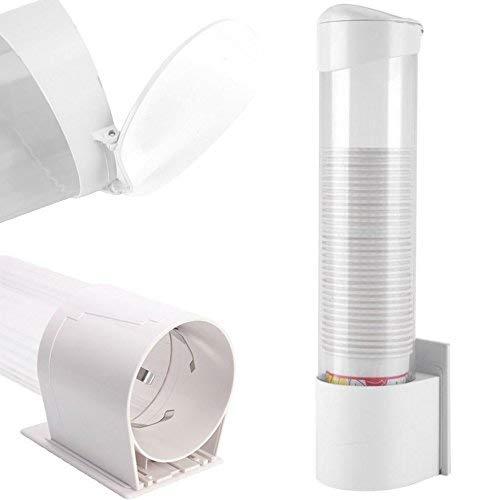 PRICEKILLER® -Dispenser Porta Bicchieri da Parete Tazze plastica Carta - Fissaggio a Slitta con Viti o con Biadesivo