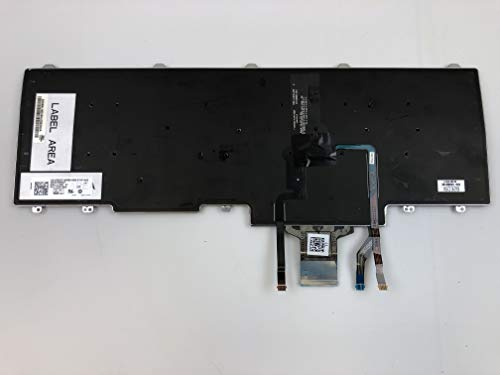 New US Layout Black Color Backlit Laptop Keyboard Replacement for Dell Latitude 12 7000 E7240 E7420 E7440 PN:RXKD2 0RXKD2 NSK-LDABC 01 9Z.N9UBC.A01 9Z.N9ULN.001 PK130VM1B00 Light Backlight