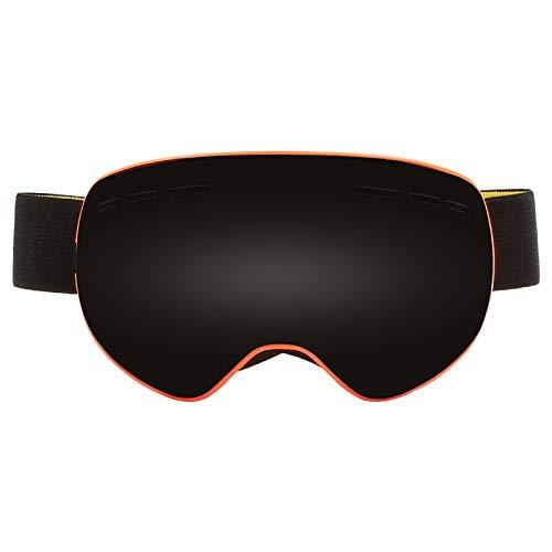 Blisfille Gafas de Ventisca Gafas Hombre Transparentes,Naranja Frame Gray