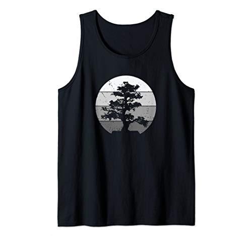 Pacific Ocean Beach Bonsai Tree Sun Retro Vintage Tank Top