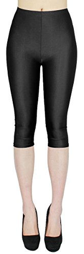 dy_mode Glanz Capri Leggings Damen Bunte Sommer Tanz Leggings Capri glänzende 3/4 Leggins Shiny One Size - 3LG121 (One Size,...
