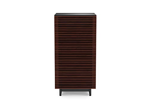 BDI Corridor Audio Tower & Stereo Cabinet, Chocolate Stained Walnut