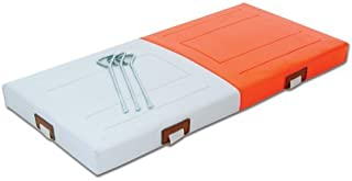 Champro PVC Quilted Double First Base (Orange/White, 28 x 2-Inch) by Champro