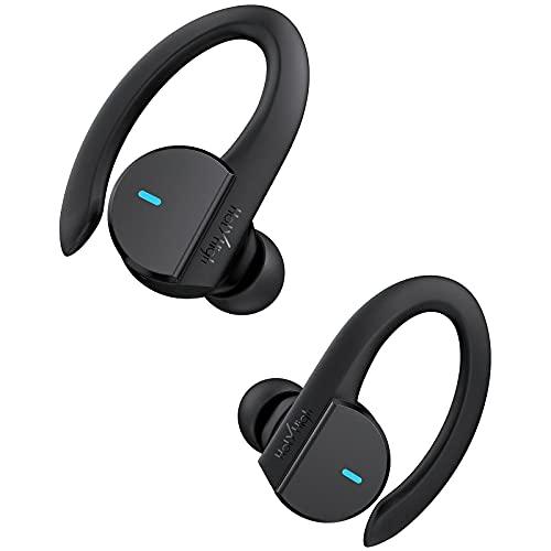 HolyHigh Bluetooth Kopfhörer Sport, Kopfhörer Kabellos IPX7 Wasserdicht, Bluetooth Sportkopfhörer Schwerer Bass, Kopfhörer Bluetooth mit 36 Stunden Spielzeit für Smartphone