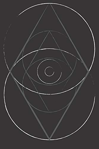 "sacred geometry vesica piscis: 6"" x 9"" dotted grid blank 120 pages, bullet journal, notebook or diary"