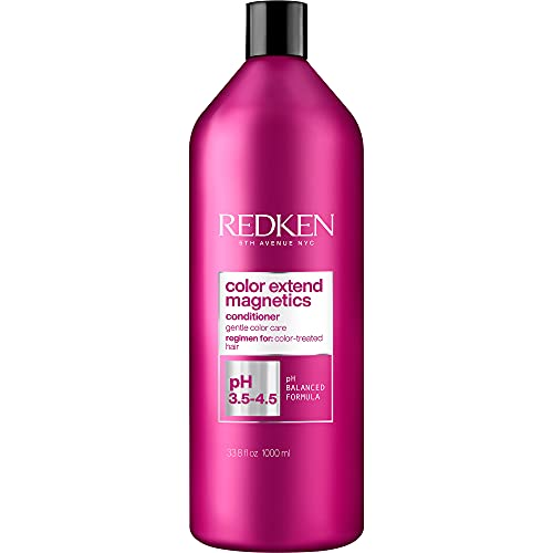 Redken Color Extend Magnetics Conditioner   For Color Treated Hair   Protects Color & Adds Shine   With Amino Acid   Sulfate-Free   33.8 Fl Ounce   Packaging May Vary