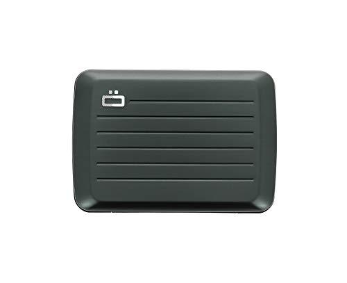Ögon Smart Wallets - Stockholm V2 Cartera Tarjetero - Protección RFID: Protege Tus Tarjetas de Robar - hasta 10 Tarjetas + Recetas + Notas - Aluminio anodizado (Platinium)