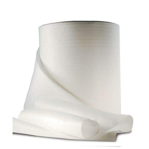 Generico Tessuto Non Tessuto -Pack 2 Ritagli da 5 mt Altezza 100 cm = 10mt - Bianco - Alta qualità