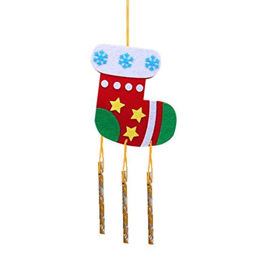 BENGKUI - Windspiele in Weihnachtssocken, Größe 12 * 39CM4.7 * 15.4in
