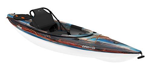 Pelican Recreational Sit-in Kayak - Argo 100XR Cosmos - White - Tin Grey -10-Foot Lightweight one Person Kayak - MDP10P100-00
