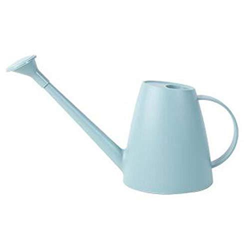 Dracol Regadera de 1,8 L, con boquilla larga, pequeña regadera de jardín, de plástico, para interior y exterior, flores, plantas de interior, herramientas de jardín, color azul