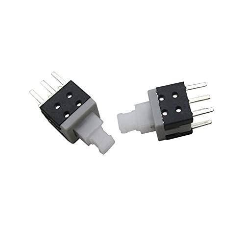 JSJJAWA Interruptores de Palanca 10pcs 6 Pin 5.8mmx5.8mm 5.8 * 5,8 mm Mini pulsador botón rectángulo Auto-Bloqueo