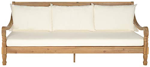 Safavieh Outdoor Collection Pasadena Brown/ Beige Acacia Wood Cushioned Daybed