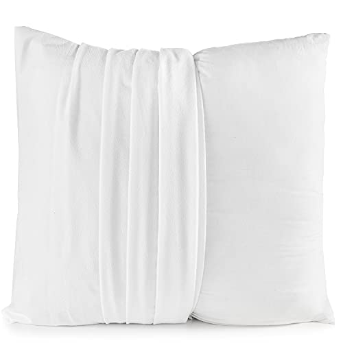 Alreya Juego de 2 fundas de almohada impermeables de 40 x 40 cm con cremallera, 100% algodón, funda protectora de almohada antiácaros